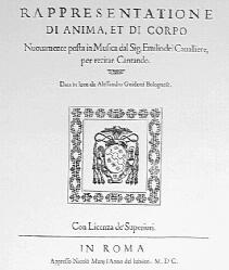 La Rappresentatione di Anima e di Corpo - édition de 1600