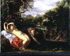 Apollon et Coronis - tableau de Elsheimer