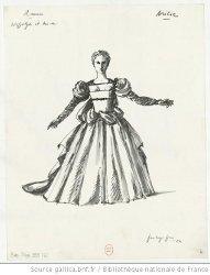 Costume pour Aricie - P. L. Pizzi