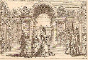 Décor pour l'Acte I - Ballard - 1713