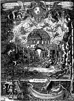 Gravure de Dolivar d'après Berain - 1686
