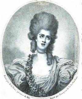 Sophie Arnould - portrait de La Tour - gravure de Bourgeois de la Richardière - frontispice de l'Arnoldiana d'Albéric Deville