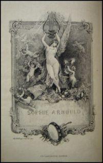 Sophie Arnould - Edition française de l'ouvrage de Robert Douglas - gravure d'Adolphe Lalauze
