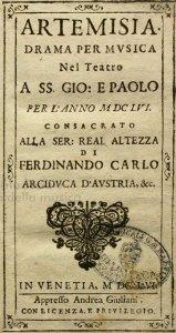 Artemisia - livret - 1656