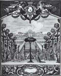 Gravure de Lalouette d'après un dessin de Chauveau