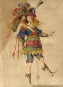 Louis XIV exécutant un pas de danse
