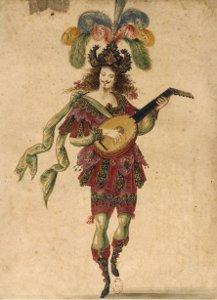 Louis XIV jouant de la mandoline
