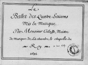 Ballet des Quatre Saisons - partition