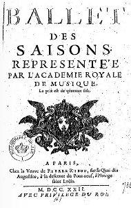 Ballet des Saisons - 1722