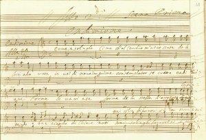 La Calisto - manuscrit - début de l'acte II