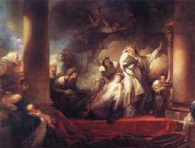 Corésus se sacrifiant pour sauver Callirhoé - Fragonard - 1765