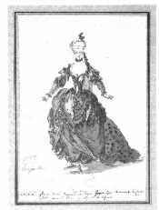 Costume de Dryade - Louis-René Boquet - 1765