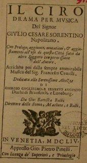 Il Ciro - Venise - 1654 - frontispice