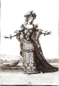 Habit d'Hermione qui a servi dans l'Opera de Cadmus