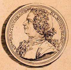 André Cardinal Destouches (médaille en bronze doré par S. Curé - 1732)