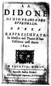 La Didone - livret - 1656