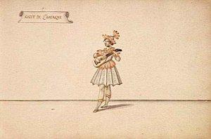 Récit de l'Amérique - femme jouant de la mandoline - Daniel Rabel