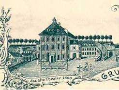 Dresde - Kleines Hoftheater en 1800