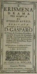 L'Erismena - livret - 1670