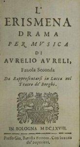 L'Erismena - livret - 1668 - Lucques