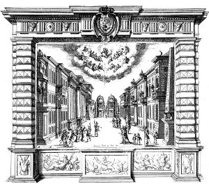 Laz Finta pazza - décor acte II - tableau 1