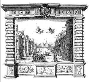 La Finta pazza - décor pour l'Acte I - tableau 1