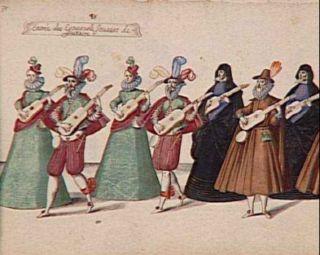 Entrée des Espagnols jouant de la guitare