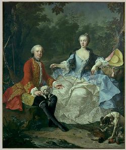Giacomo Durazzo et son épouse