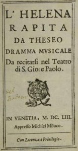 L'Helena rapita - livret - 1653