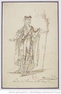 Ismène - costume pour Prêtre au 3e acte