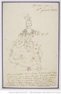 Ismène - costume pour Mlle Guimard en Créuse