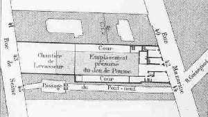 Jeu de Paume de la Bouteille, détruit en 1688