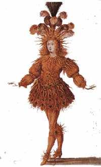 Louis XIV en Soleil Levant à la fin du Ballet de la Nuit