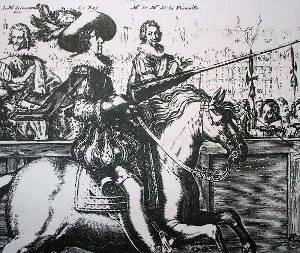 Le marquis de Courtenvault, le Roy, et le marquis de La Vieuville