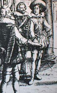 Louis XIII adolescent, avec le maitre d'équitation Antoine de Pluvinel
