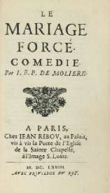 jean ribou 1668 - Le Mariage Forc Rsum