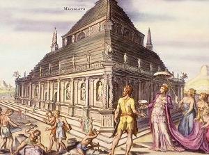 Reconstitution du Mausolée d'Halicarnasse