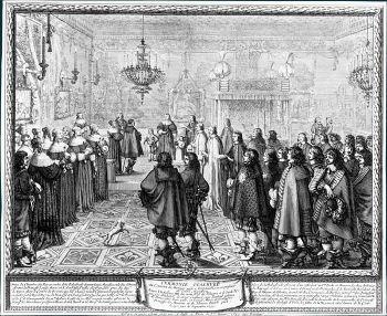 Tableau représentant les cardinaux Mazarin et Bichi