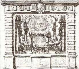 Décor pour l'acte I : La grotte de Chiron