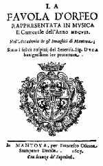 Livret de l'Orfeo - Mantoue - 1607