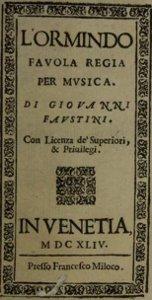 L'Ormindo - livret - 1644
