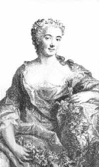 Mlle Pélissier - d'après un portrait de Drouais