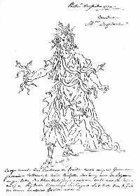 Costume de Méduse pour Persée à Versailles en 1770