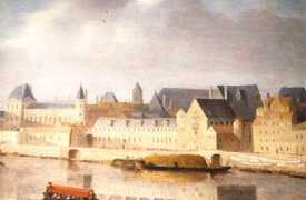 Le Louvre et le Petit-Bourbon vers 1630