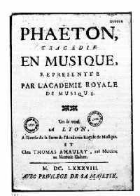 Phaëton à Lyon
