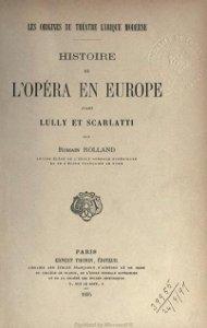 Histoire de l'Opéra en Europe - Ernest Thorin