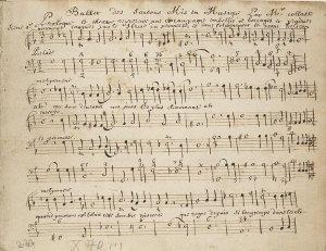 Ballet des Saisons - partition manuscrite