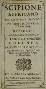 Scipione Affricano - livret - 1664