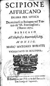 Scipione Affricano - livret - 1670