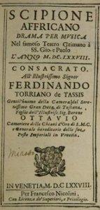 Scipione Affricano - livret - 1678